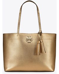 Tory Burch - Mcgraw Metallic Tote - Lyst