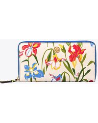 Tory Burch - Printed Floral Zip Continental Wallet - Lyst