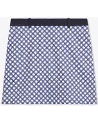 Tory Sport Printed Tech Twill Golf Skirt - Blue
