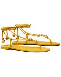 Tory Burch Capri Lace Up Sandal - Multicolor
