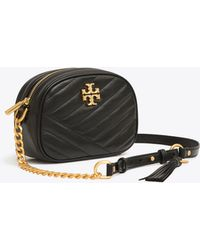 Tory Burch Kira Small Chevron Camera Crossbody - Black