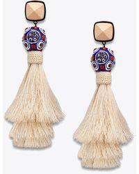 Tory Burch - Silk Tassel Earring - Lyst