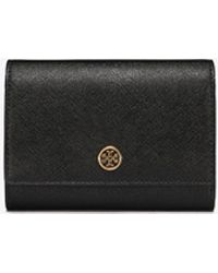 Tory Burch Robinson Medium Leather Wallet - Black