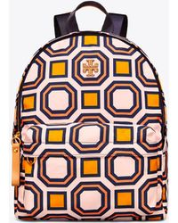 Tory Burch - Printed Nylon Backpack - Lyst