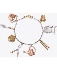 Tory Burch - Gardening Tool Charm Bracelet - Lyst