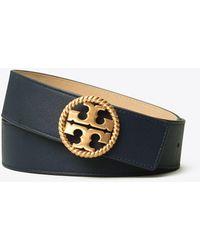 Tory Burch Reversible Logo Belt 1.5'' - Blue