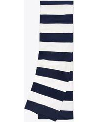 Tory Burch - Broad-stripe Tech Knit Scarf - Lyst