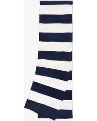 Tory Sport - Broad-stripe Tech Knit Scarf - Lyst