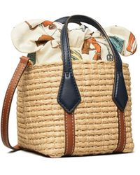 Tory Burch Perry Straw Nano Tote - Natur