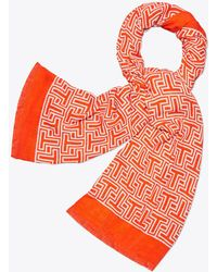 Tory Burch - T Oblong Scarf - Lyst