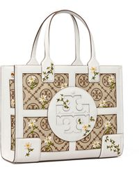 Tory Burch Ella T Monogram Embroidered Mini Tote Bag - Mehrfarbig