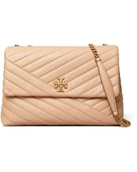 Tory Burch Kira Chevron Leather Shoulder Bag - Red