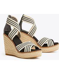 Tory Burch Women's Frieda Platform Wedge Espadrille Sandals - Multicolor