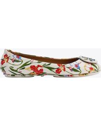 Tory Burch - Minnie Travel Ballet Flat, Printed Leather - Lyst