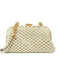 Tory Burch - Cleo Macrame Woven Mini Bag - Lyst