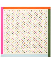 Tory Burch Tory Text Silk Neckerchief - Multicolor