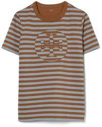 Tory Burch T-shirt With Logo - Brown