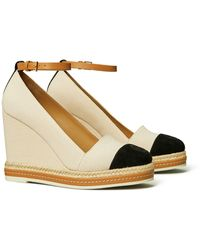 Tory Burch Color-Block Ankle-Strap Wedge Espadrille - Mehrfarbig