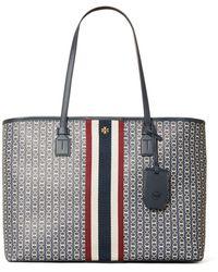 Tory Burch 'gemini' Shoulder Bag Navy Blue