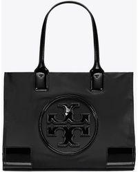 Tory Burch Ella Mini Nylon Tote Bag - Black