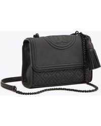 b18567ecde7 Lyst - Tory Burch Fleming Matte Small Convertible Shoulder Bag in Black