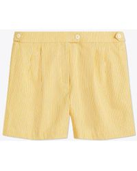 Tory Burch - Cotton Striped Short - Lyst
