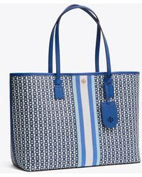 Tory Burch - Gemini Link Canvas Small Tote - Lyst