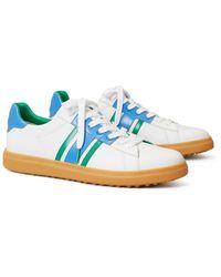 Tory Sport Howell Court Striped Golf Sneaker - Blue
