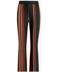 Tory Burch Striped Knit Crop Trousers - Multicolour