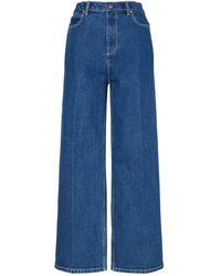 Tory Burch Jeans With Logo - Blue