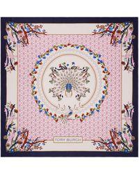 Tory Burch - Meadow Folly Silk Square Scarf (ivory Meadow Folly) Scarves - Lyst