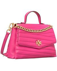 Tory Burch Kira Chevron Top-handle Satchel - Pink