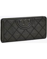 Tory Burch Fleming Leather Slim Envelope Wallet - Schwarz