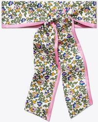 Tory Burch - Wild Pansy Silk Necktie - Lyst
