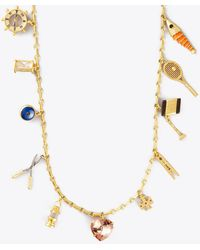 Tory Burch Charm Rosary Necklace - Multicolour