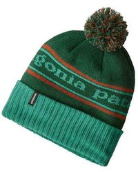 7bab9d3cd21 Lyst - Patagonia Powder Town Knit Beanie in Green for Men