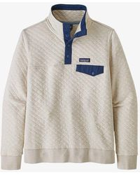 Patagonia Organic Cotton Quilt Snap-t Pullover Pelican W/stone Blue
