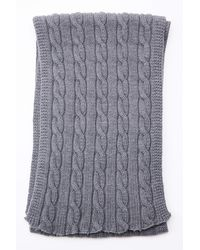 Engineered Garments Knit Scarf Gray Wool Cable Knit