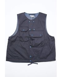 Engineered Garments Cover Vest Dk. Navy High Count Twill - Blue