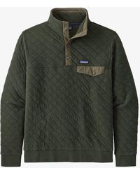 Patagonia Organic Cotton Quilt Snap-t Pullover Kelp Forrest - Blue