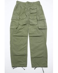 Engineered Garments Fa Pant Olive Cotton Ripstop - Green