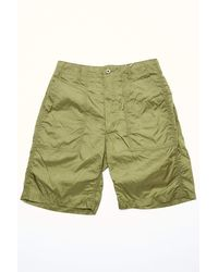 Engineered Garments Fatigue Short Olive Nylon Micro Ripstop - Green