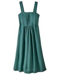Patagonia Garden Island Dress Tasmanian Teal - Green