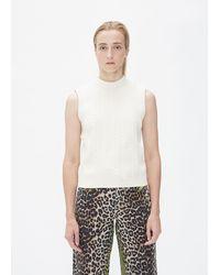Ganni Sleeveless Knit - White