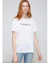 R13 - Strangelove Boy Tee - Lyst
