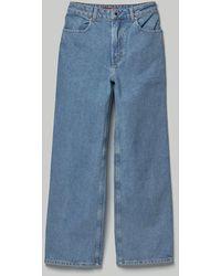 Eckhaus Latta Wide Leg Jean In True Blue