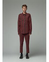 Ann Demeulemeester Striped Shirt - Red