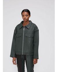 AALTO Leather Utility Jacket - Green