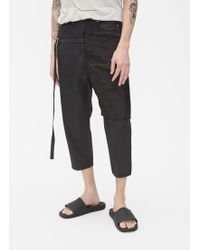 DRKSHDW by Rick Owens - Combo Collapse Cropped Jean - Lyst