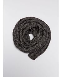 MM6 by Maison Martin Margiela - Cable Knit Scarf - Lyst